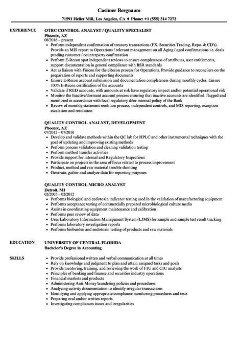 pretty resume quality control analyst ideas resume ideas