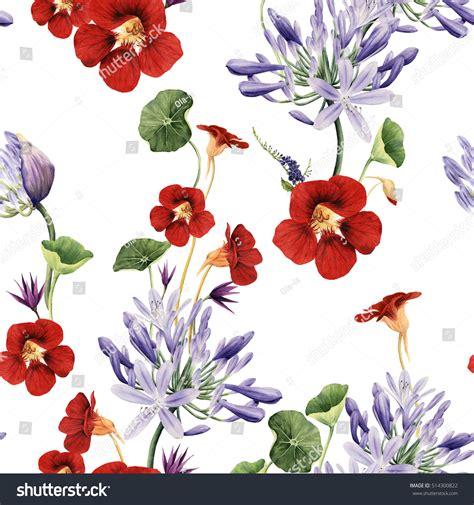 seamless pattern steunk seamless floral pattern flowers watercolor