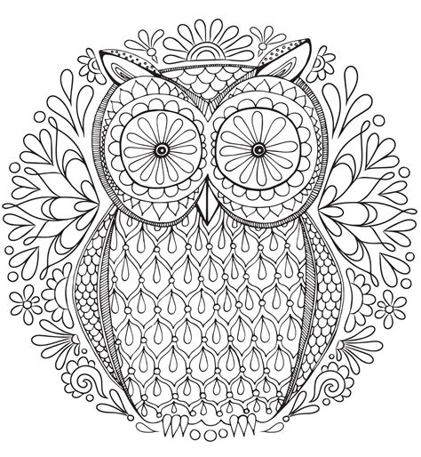 abstract owl coloring page 20 free adult colouring pages the organised housewife