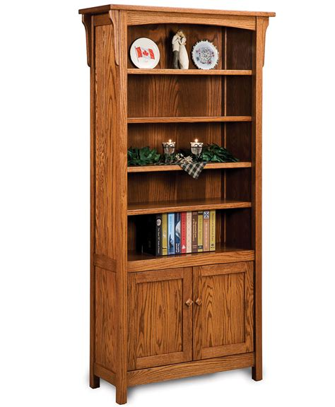 bookcases with doors bridger mission bookcase with doors amish direct furniture