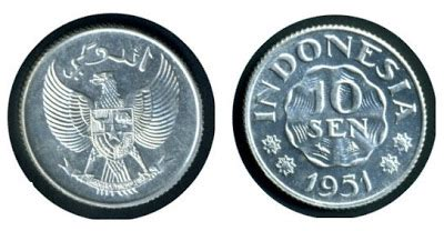 Uang 5 Sen Tahun 1951 Dapat 8 Koin uang koin indonesia tahun 1952 1973 jaman dulu gambar