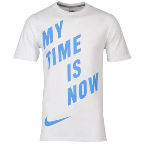T Shirt Nike My Is nike s my time is now t shirt white blue sports