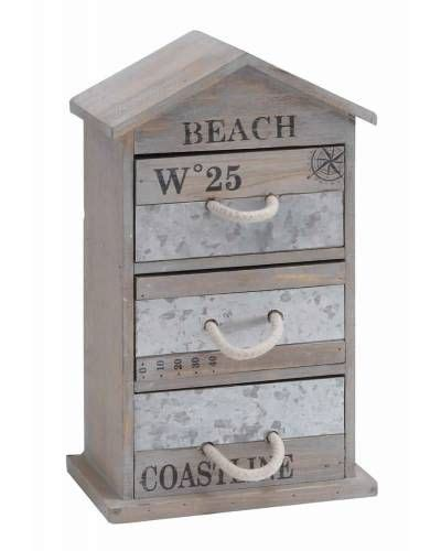 washed wood box l house washed wood storage box with three drawers and