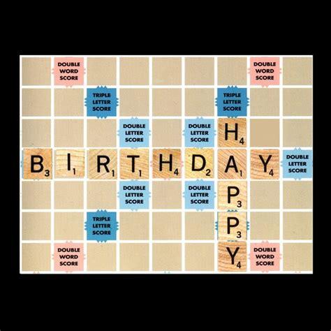 card like scrabble happy birthday scrabble card