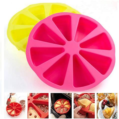 Cetakan Silikon Silicone Mold R7 food grade silicone baking cake pan molds pudding jelly muffin form cupcake triangle shape