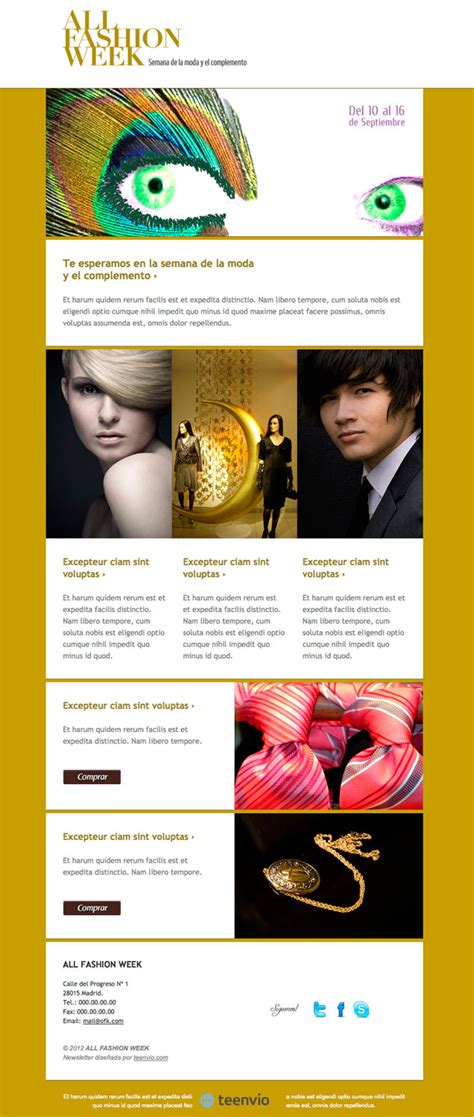 17 best images about fashion email newsletters on other stories farrow and fashion plantilla html gratis para newsletter en email marketing