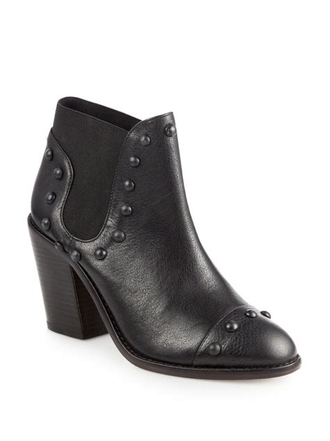 Leather Studded Loeffler Randall Emerson Studded Leather Ankle Boots In