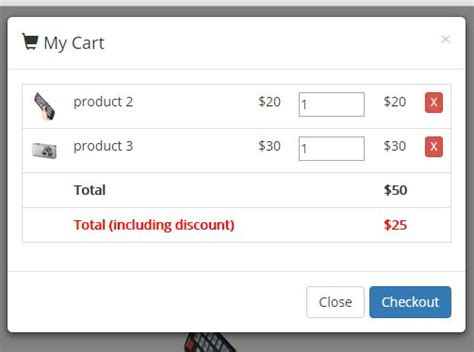 Simple Shopping Cart Plugin With Jquery And Bootstrap Mycart Free Jquery Plugins Bootstrap Shopping Cart Template Free