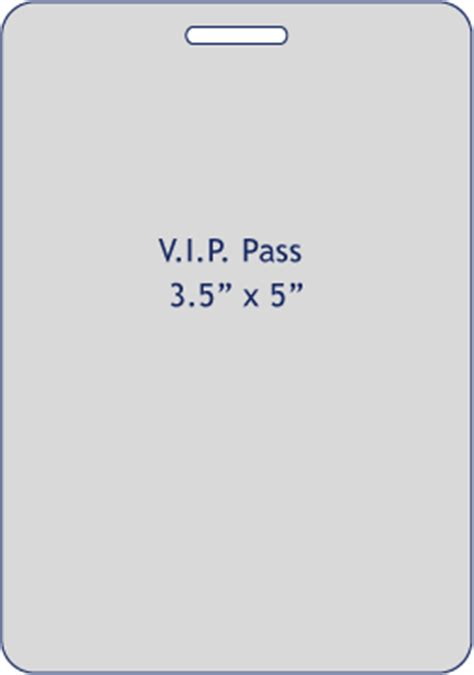 Vip Pass Templates Vip Name Tag Template