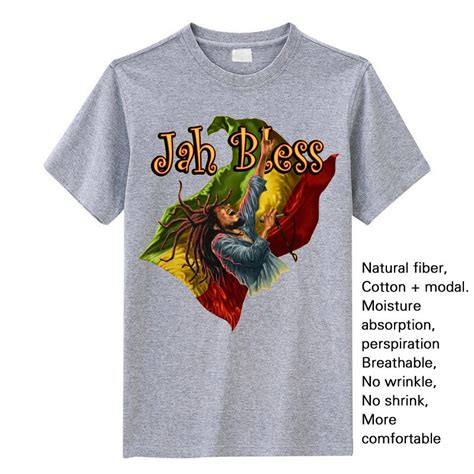Kaosbajut Shirt Reggae Jah Bless You reggae rebel bob marley and the wailers t shirt jah bless in t shirts from s clothing