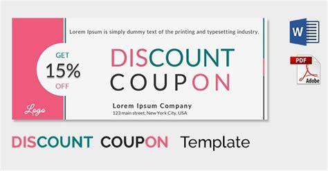 discount card template psd creative coupon designs journalingsage