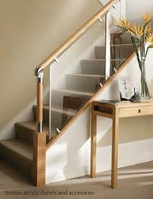 Wood And Glass Banister by Glass And Wood Stair Railing Duplex Stairs