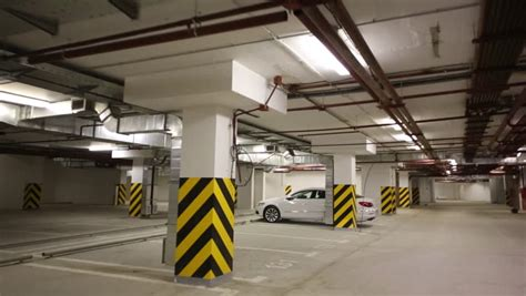 Underground Garage Russia by Overhead Crane In Industrial Store House 2 Stock Footage