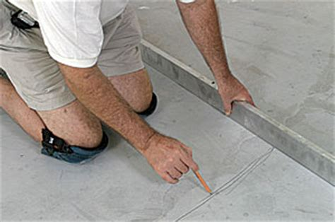 How To Check Floor Flatness by Glue Wood Flooring To A Concrete Slab Finehomebuilding