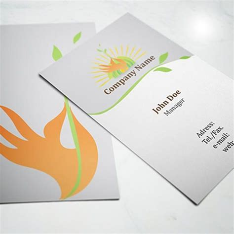 eco business card templates eco friendly business card template vector freevectors net