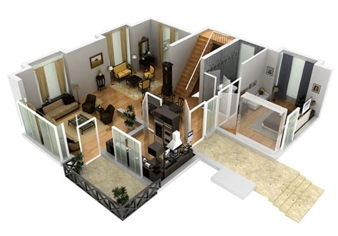 Luxury House Blueprints by 2d Amp 3d House Floorplans Architectural Home Plans Netgains