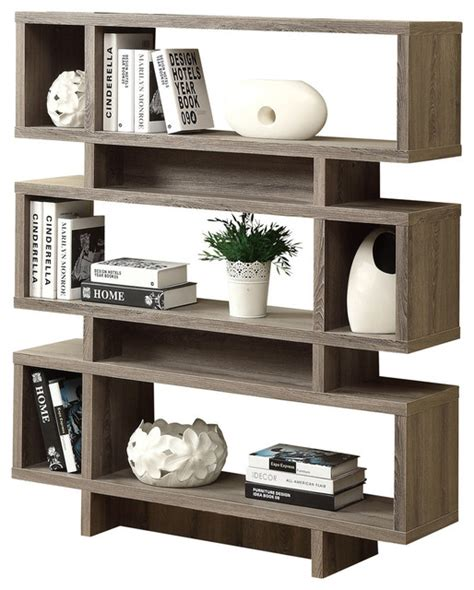 Modern Style Bookcases bookcase 55 quot h taupe modern style bookcases by yolo stocks