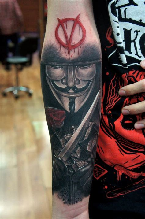 anonymous mask tattoo www pixshark com images