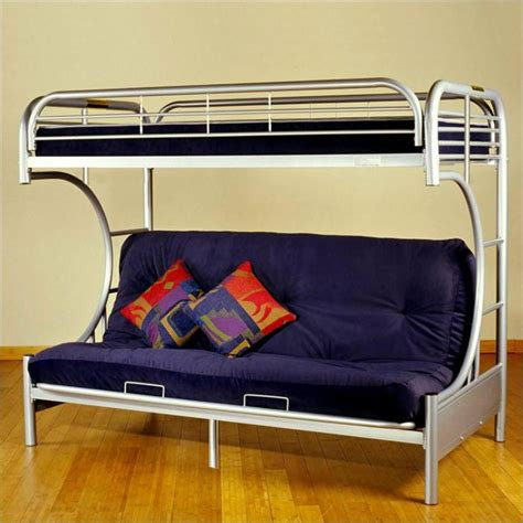 metal bunk bed with futon steel frame futon bunk bed