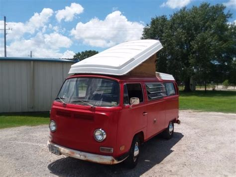 vw westfalia camper montana red  original  owner    sale