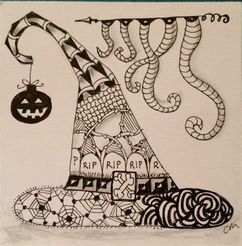 doodle witches hat puzzle 93 best images about zentangles on