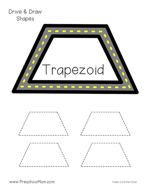 printable shapes trapezoid drive trace shape printables