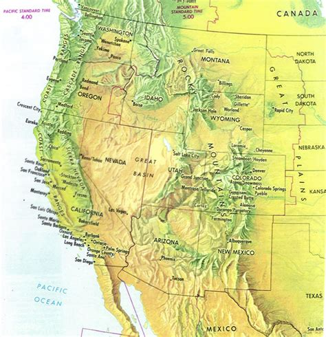 map of western us post environmentalist directions
