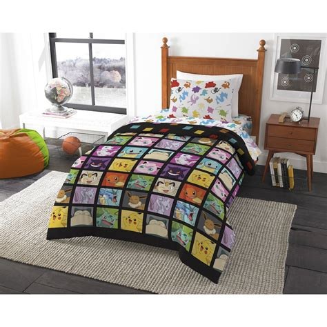 pokemon twin bedding pokemon quot kanto favorites quot 4 piece twin bed in a bag