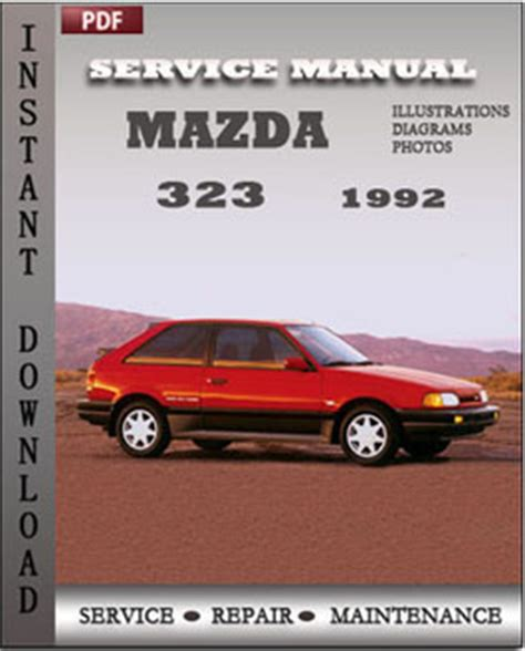 car repair manuals online pdf 1992 mazda 323 engine control mazda 323 1992 free download pdf repair service manual pdf
