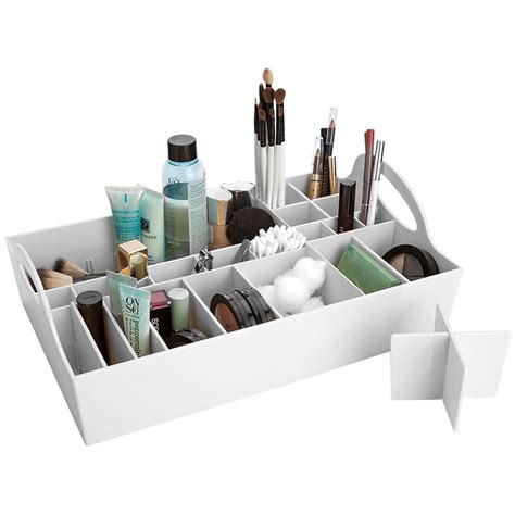 bathroom vanity tray in cosmetic organizers
