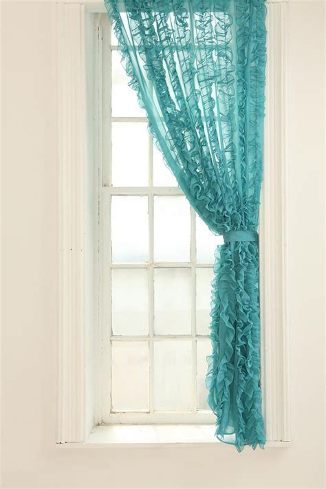 turquoise ruffle curtains 17 best ideas about turquoise curtains on pinterest