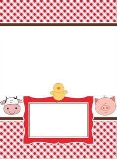 barnyard card template farm animal free printables farm animals digital clip