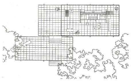 Simple Floor Plans by Plan Of Farnsworth House By Mies Van Der Rohe Source D