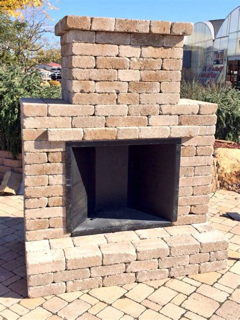 outdoor fireplace simple and elegant outdoor fireplace kit by whiz q stone
