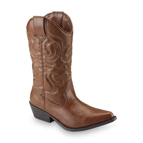 cowboy boots womans sm new york s lasso brown cowboy boot