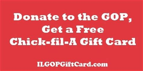 Chick Fil A Gift Card Promotion - illinois republican party offers chick fil a gift cards to donors in response to pro