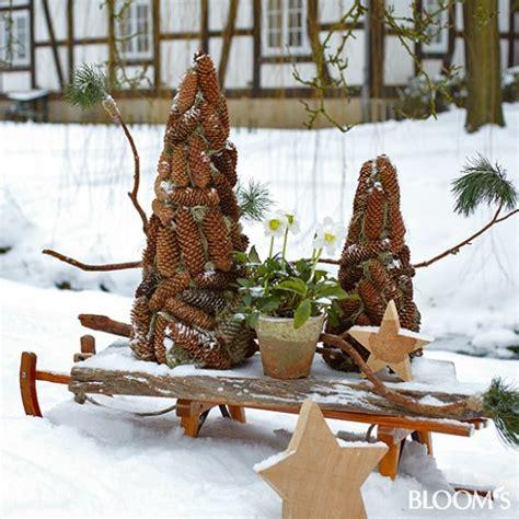 garten dekoration weihnachten garten winter dekoration garten winter