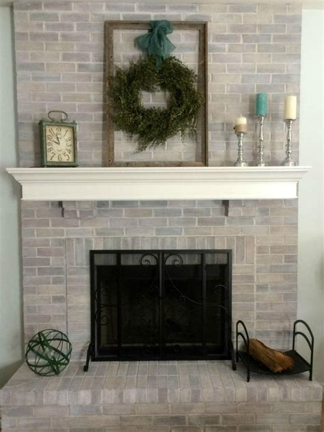 best 25 whitewash brick fireplaces ideas on