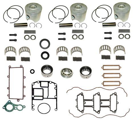mercury outboard motor rebuild kit mercury outboard complete powerhead rebuild kits