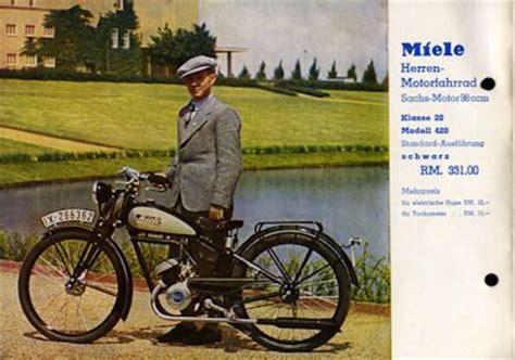 Motorfahrrad Deutschland by Miele Motorfahrrad Prospekt 8 1937 Nr Miele1690