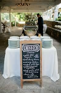 Backyard Wedding Menu Ideas De Pizarra Y Gis Para La Boda El De Una Novia