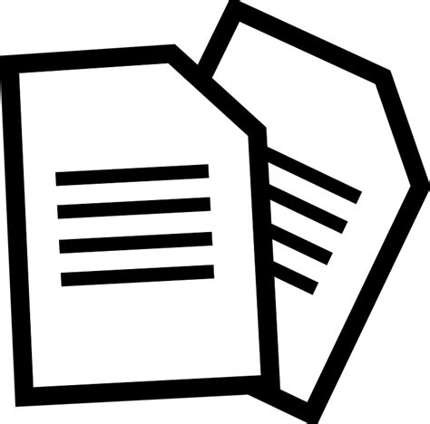 Documents Clipart Documents Paper 183 Free Vector Graphic On Pixabay