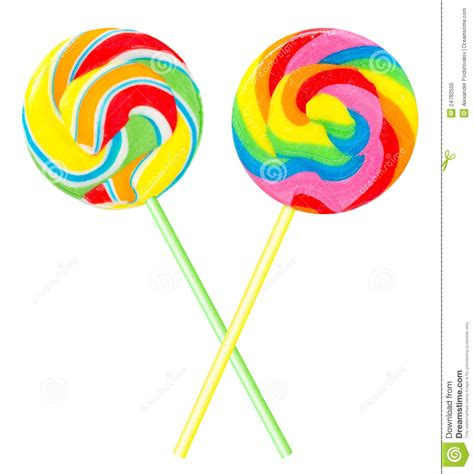 Flat Architecture by Two Colourful Lollipops Royalty Free Stock Photo Image