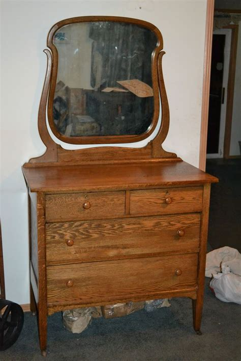 Vintage Bedroom Vanity by Antique Oak Bedroom Dresser Or Small Chest With Mirror