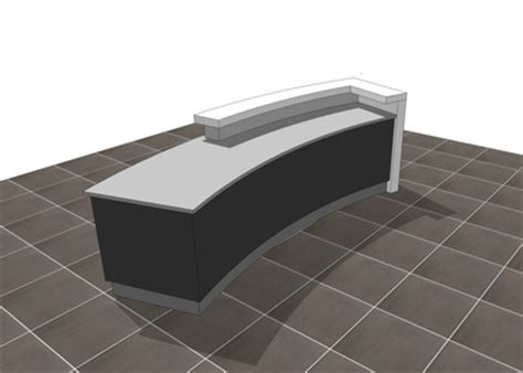 sketchup  modern reception desks