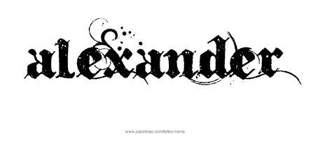 tattoo ideas for the name alex alexander name tattoo designs