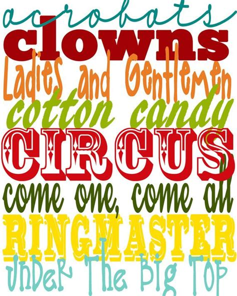 printable circus fonts printable circus collection subway art by
