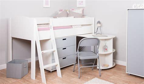 mi zone m4 mid sleeper bed frame desk chest bensons