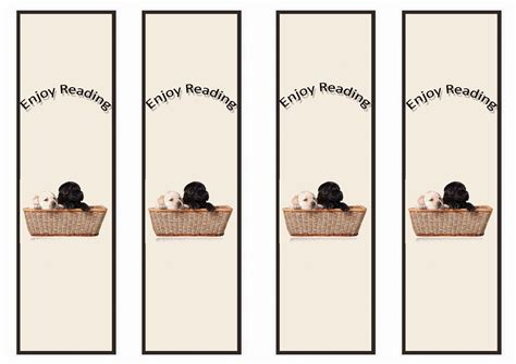 printable puppy bookmarks dog lovers bookmarks birthday printable