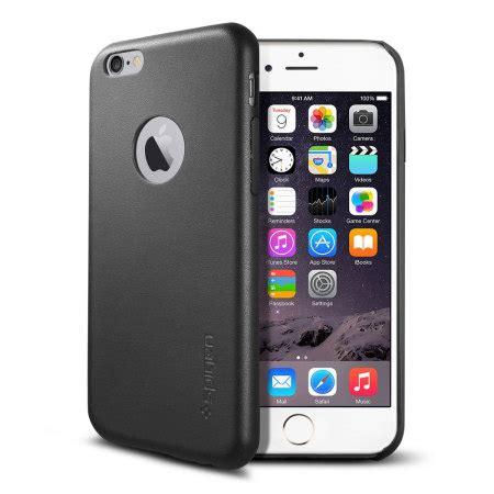 Spigen Leather Fit For Iphone 6 Plus Black Murah spigen leather fit iphone 6s plus 6 plus shell black